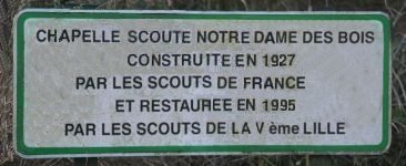 Plaque d'origine