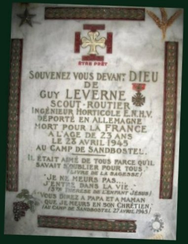 Plaque Guy Leverne