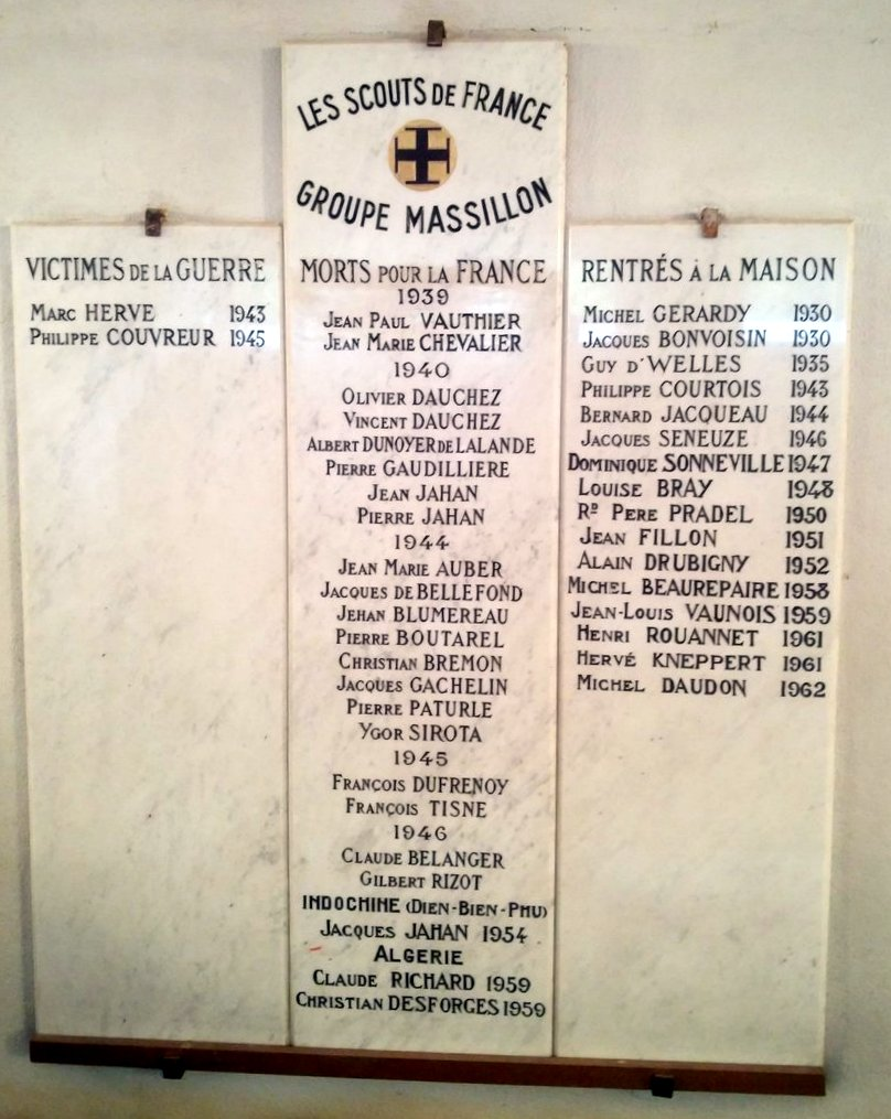 Plaque groupe Massillon