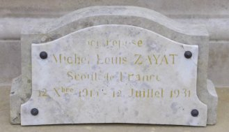 Plaque Michel ZAYAT